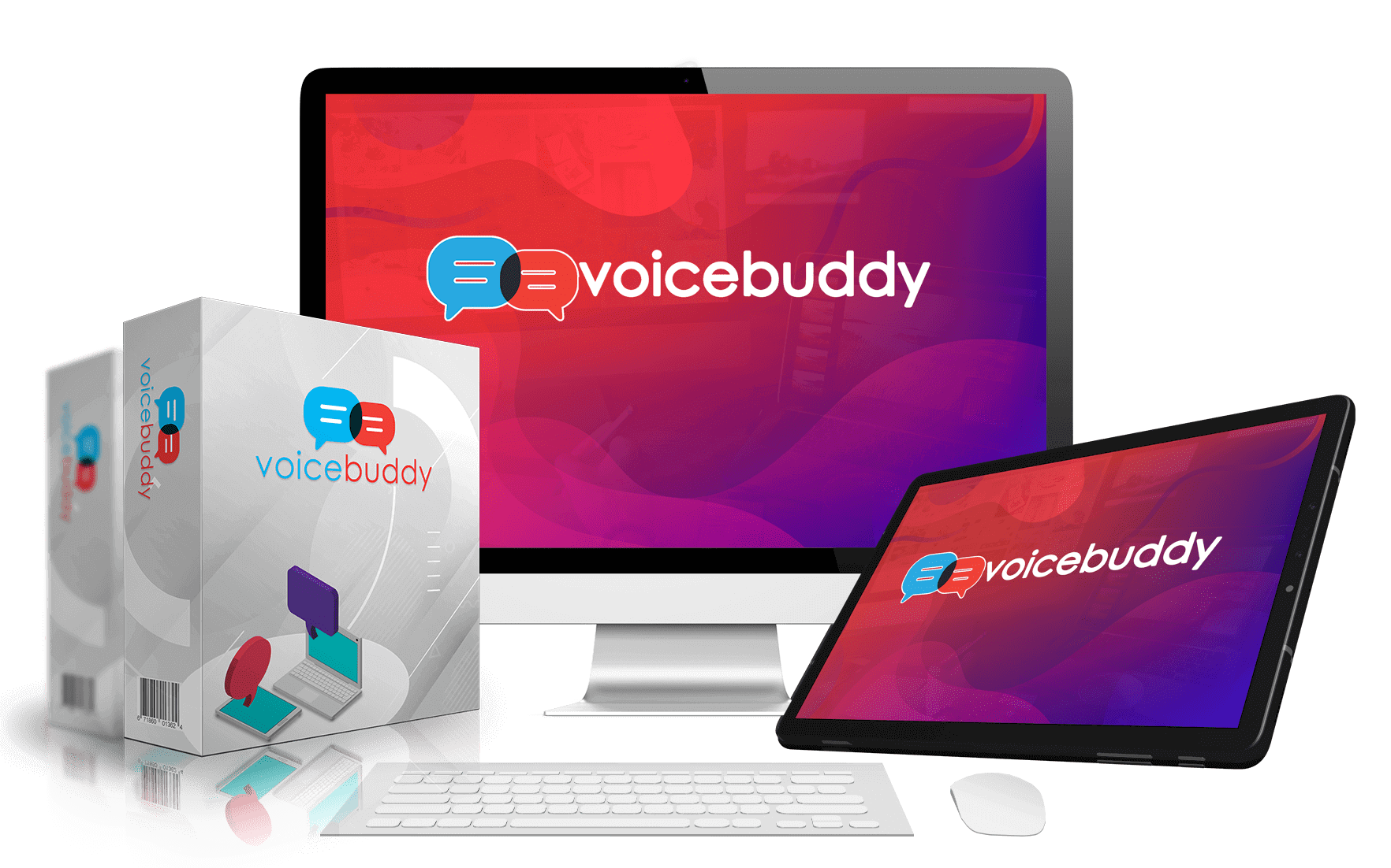 Voice Buddy (FE) + Voice Buddy PRO (OTO1) + Voice Buddy International (OTO2) + Voice Buddy Video & Image Creation Engine (OTO3)